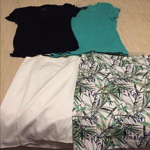 Bundle 2 skirts 2 shirts mix and match